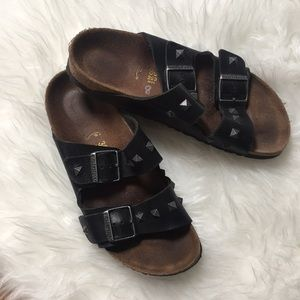 Birkenstock Black Studded Arizona Sandals 39